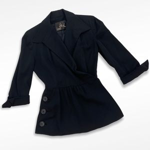 VTG 40's Lilli Ann Peplum Wasp Waist Suit Jacket